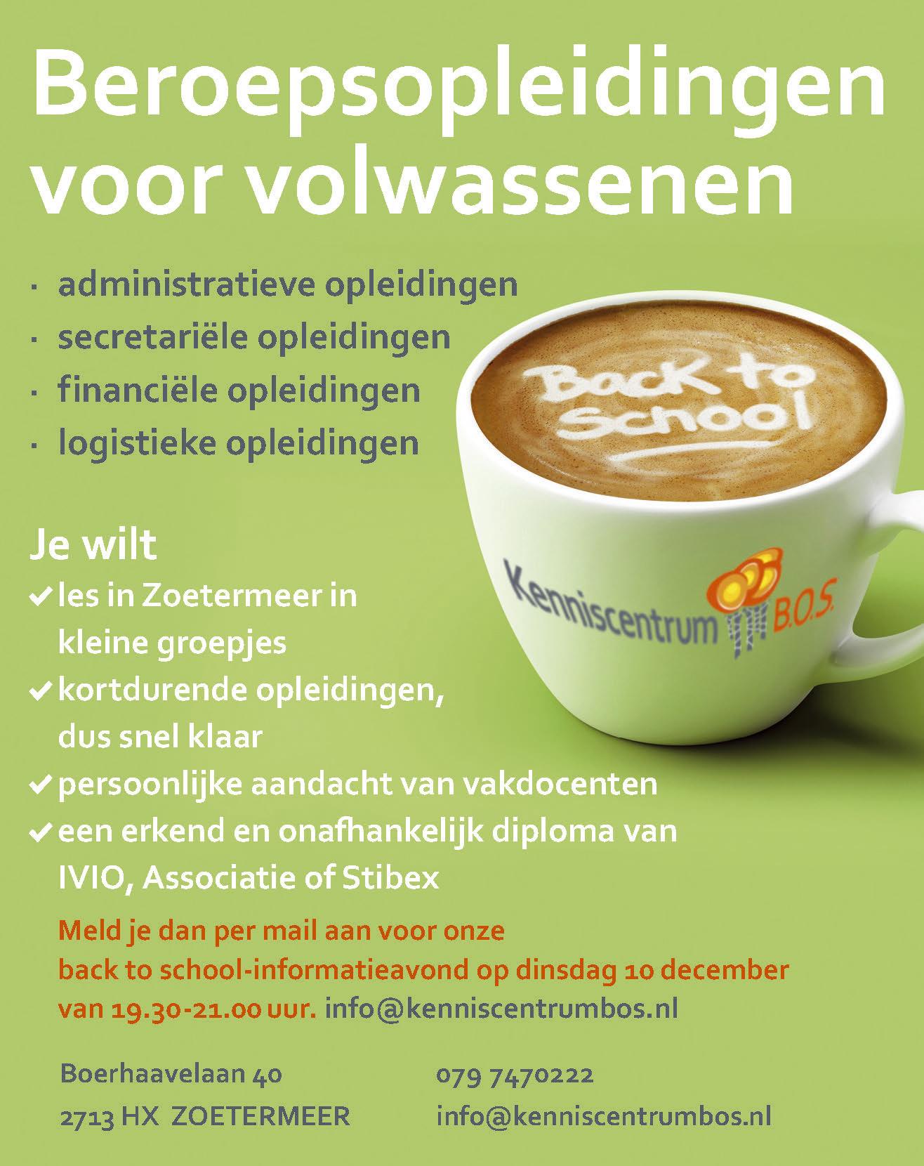 Kenniscentrum BOS back to school | Meld je aan voor de kennismakingsles